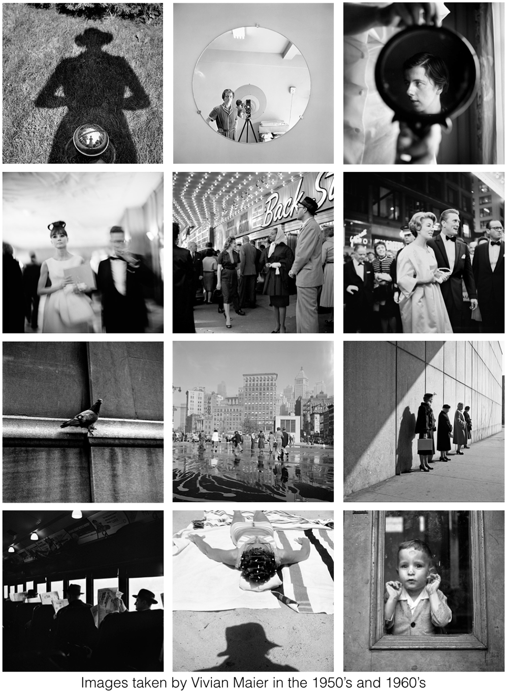 Vivian Maier images 50s and 60s