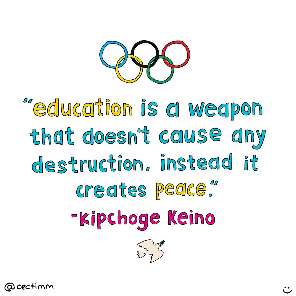 cectimm education quote Kipchoge Keino Olypics 2016.jpg