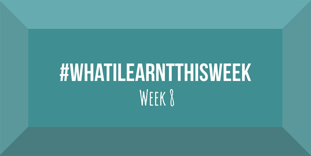 what i learnt this week 2017 :: WEEK 8